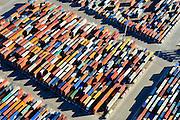 Nederland, Zuid-Holland, Rotterdam, 18-02-2015; Eerste Maasvlakte, Coloradoweg details container terminals. <br /> <br /> luchtfoto (toeslag op standard tarieven);<br /> aerial photo (additional fee required);<br /> copyright foto/photo Siebe Swart