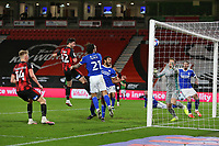 Football - 2020 / 2021 Sky Bet Championship - AFC Bournemouth vs. Cardiff City - The Vitality Stadium<br /> <br /> Bournemouth's Shane Long heads a goal back for Bournemouth at the Vitality Stadium (Dean Court) Bournemouth <br /> <br /> COLORSPORT/SHAUN BOGGUST