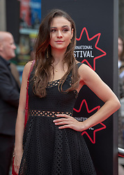 The Edinburgh International Film Festival Opening Night Premiere features the film Puzzle. Directed by Mark Turtletaub it stars Kelly Macdonald and Irrfan Khan. <br /> <br /> Pictured: Outlander star Sophie Kelton