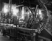Cans on Conveyor Belt, Cadbury Factory, England, 1928