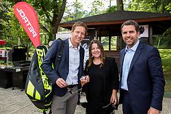 Uroš Mesojedec, Tjaša Kolenc Filipčič and Tomaž Jontes at Petrol VIP tournament 2018, on May 24, 2018 in Sports park Tivoli, Ljubljana, Slovenia. Photo by Vid Ponikvar / Sportida