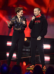 Hosted Emma Willis and Liam Payne at the Brit Awards 2018 Nominations event held at ITV Studios on Southbank, London.