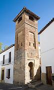 Historic tower former Islamic minaret Minarete de San Sebastian, Ronda, Spain