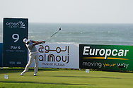 Matthieu Pavon (FRA) on the 9th during Round 2 of the Oman Open 2020 at the Al Mouj Golf Club, Muscat, Oman . 28/02/2020<br /> Picture: Golffile | Thos Caffrey<br /> <br /> <br /> All photo usage must carry mandatory copyright credit (© Golffile | Thos Caffrey)