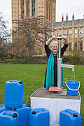 Helen Goodman MP. Marking World Water Day, over 40 MP's walked for water at Westminster, London at an event organised by WaterAid and Tearfund. Globally hundreds of thousands of people took part in the campaign to raise awareness of the world water crisis.