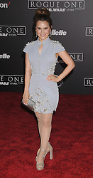 December 10, 2016 - Los Angeles, California, United States - December 10th 2016 - Los Angeles California USA - Actress ROSANA PANSINO   at the World Premiere for ''Rogue One Star Wars'' held at the Pantages Theater, Hollywood, Los Angeles  CA (Credit Image: © Paul Fenton via ZUMA Wire)