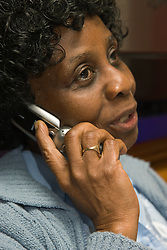 Portrait of an older woman using a mobile phone,