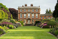 Herbaceous borders in front of Newby Hall<br /> Ripon, Yorkshire
