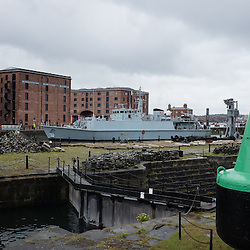 LIVERPOOL, UK, 23rd May, 2013. Royal Navy vessel HMS Pembroke arrives at Albert Dock, Liverpool, UK, as part of the Battle of the Atlantic 70th anniversary celebration weekend. A fleet of 21  Royal Naval vessels will visit over the weekend.