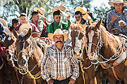 Mexican cowboys during Catholic mass marking Three Kings Day and the end of the annual Cabalgata de Cristo Rey pilgrimage January 6, 2017 in Guanajuato, Mexico. Thousands of Mexican cowboys and horse take part in the three-day ride to the mountaintop shrine of Cristo Rey.