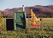 Bruce Meadows Airport outhouse, Boise National Forest, Idaho.