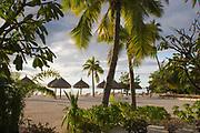 Sunrise at the beach, Beachcomber International Hotel, Moorea, French Polynesia