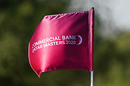 Commercial Bank Qatar Masters 2020 flag during the Pro-Am of the Commercial Bank Qatar Masters 2020 at the Education City Golf Club, Doha, Qatar . 04/03/2020<br /> Picture: Golffile   Thos Caffrey<br /> <br /> <br /> All photo usage must carry mandatory copyright credit (© Golffile   Thos Caffrey)