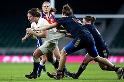 Amy Cokayne of England is tackled - Mandatory by-line: Robbie Stephenson/JMP - 04/02/2017 - RUGBY - Twickenham - London, England - England v France - Women's Six Nations