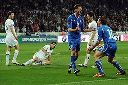 25.03.2011, SRC Stozice, Ljubljana, SLO, EURO 2012 Qualifikation, Slovenia vs Italy, im Bild Esultanza di Thiago Motta dopo il gol.Thiago Motta celebrates scoring. EXPA Pictures © 2011, PhotoCredit: EXPA/ InsideFoto/ Nicolo Zangirolami +++++ ATTENTION - FOR AUSTRIA/AUT, SLOVENIA/SLO, SERBIA/SRB an CROATIA/CRO CLIENT ONLY +++++