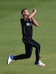 New Zealand's Tim Southee during the ICC Champions Trophy, Group A match at Sophia Gardens, Cardiff. PRESS ASSOCIATION Photo. Picture date: Friday June 9, 2017. See PA story CRICKET India. Photo credit should read: Nigel French/PA Wire. RESTRICTIONS: Editorial use only. No commercial use without prior written consent of the ECB. Still image use only. No moving images to emulate broadcast. No removing or obscuring of sponsor logos.