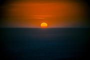 Red Sunset over horizon