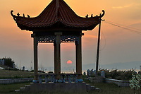"""Shrine, Yangma island, prefecture Yantai, Shandong, China. Yangma Island is situated by the Yellow Sea and it is called """"the pearl in the sea""""."""