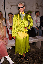 Lily Allen on the front row during the Fashin East Spring/Summer 2019 London Fashion Week show in Covent Garden, London. Picture date: Saturday September 15th, 2018. Photo credit should read: Matt Crossick/ EMPICS Entertainment.