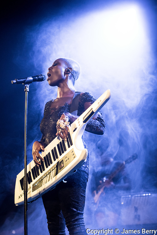 Laura Mvula performs a comeback show at Islington Assembly Hall, performing songs from her new album The Dreaming Room, on Tuesday 22 March 2016.