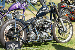 Harley-Davidson Shovelhead on Harley-Davidson Shovelhead on Day two of the Born Free Vintage Chopper and Classic Motorcycle Show at the Oak Canyon Ranch in Silverado, CA. USA. Sunday, June 29, 2014.  Photography ©2014 Michael Lichter.
