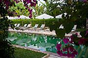 Apsara Rive Droite guest house pool in Luang Prabang, Laos.