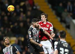 Bristol City's Aden Flint  heads at goal - Photo mandatory by-line: Matt Bunn/JMP - Tel: Mobile: 07966 386802 21/12/2013 - SPORT - FOOTBALL - Meadow Lane - Nottingham - Notts County v Bristol City - Sky Bet League One