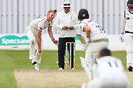 Liam Norwell of Warwickshire during the Specsavers County Champ Div 1 match between Yorkshire County Cricket Club and Warwickshire County Cricket Club at York Cricket Club, York, United Kingdom on 17 June 2019.