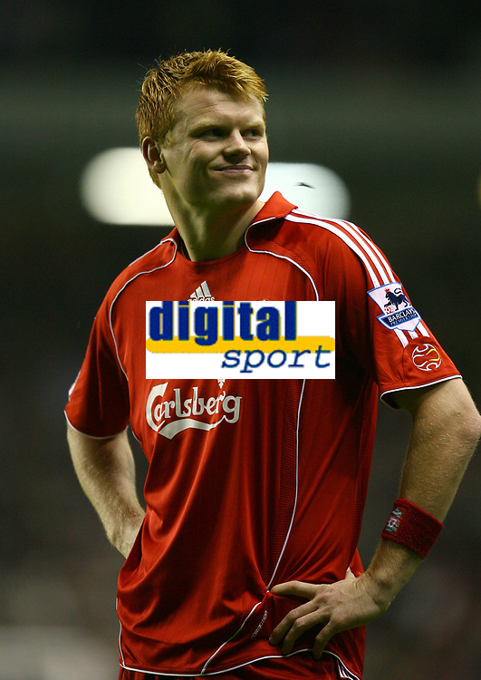 Fotball<br /> England <br /> League Cup 3rd round<br /> Liverpool v Reading<br /> Foto: Propaganda/Digitalsport<br /> NORWAY ONLY<br /> <br /> LIVERPOOL, ENGLAND - WEDNESDAY, OCTOBER 25th, 2006: Liverpool's John Arne Riise celebrates Gabriel Paletta's third goal against Reading during the League Cup 3rd Round match at Anfield