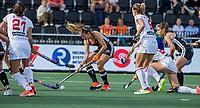 AMSTELVEEN -   Anne Schroder (Ger) tijdens de halve finale-wedstrijd dames, Duitsland-Spanje (4-1)  bij het  EK hockey , Eurohockey 2021. COPYRIGHT KOEN SUYK