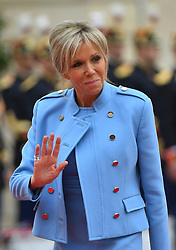 New First Lady Brigitte Macron arriving when New French President Emmanuel Macron is installed in Elysee Palace, Paris, France on May 14th, 2017. Photo by Christian Liewig/ABACAPRESS.COM