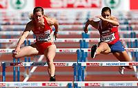 Friidrett<br /> EM 2012<br /> 29.06.2012<br /> Foto: Gepa/Digitalsport<br /> NORWAY ONLY<br /> <br /> EAA Europameisterschaften, 100m Huerden der Damen. Bild zeigt Beate Schrott (AUT) und Christina Vukicevic (NOR).