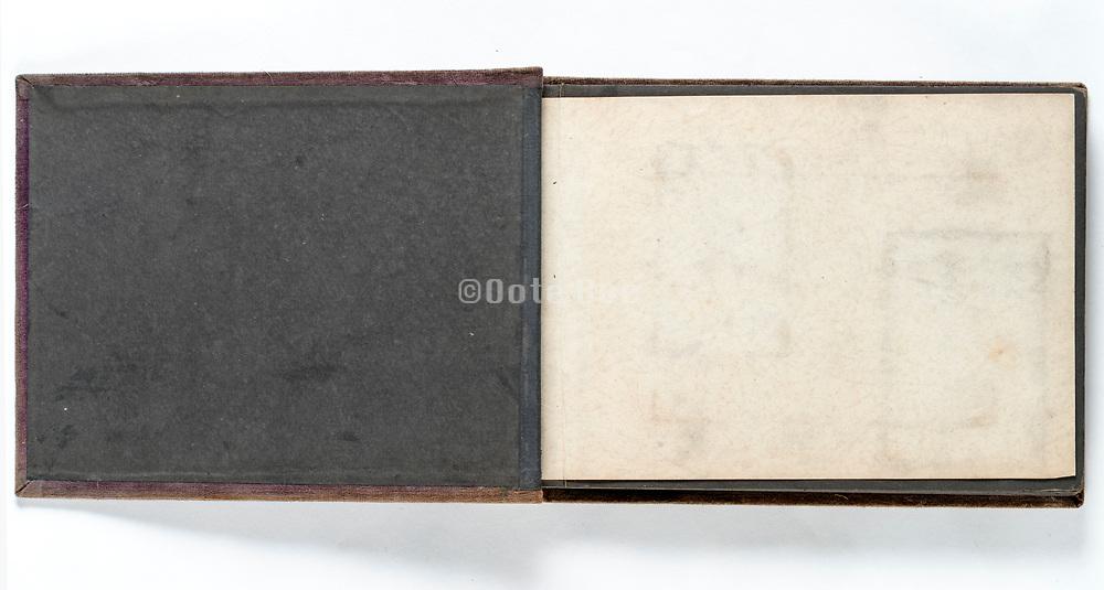 empty page of a photo album