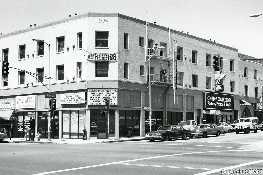 1987 NW corner of Sunset Blvd. & Wilcox Ave.