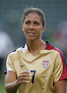 25 August 2007: Shannon Boxx. The United States Women's National Team defeated the Women's National Team of Finland 4-0 at the Home Depot Center in Carson, California in an International Friendly soccer match.