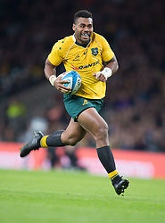 October 9, 2016 - London, Greater London, England - Australia's Samu Kerevi running in his 2nd try during The Rugby Championship match between Argentina and Australia at WembleyTwickenham on 8th October 2016  (Credit Image: © Kieran Galvin/NurPhoto via ZUMA Press)