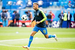 June 22, 2018 - Sankt Petersburg, Russia - 180622 Neymar of Brazil during warm-up ahead of the FIFA World Cup group stage match between Brazil and Costa Rica on June 22, 2018 in Sankt Petersburg..Photo: Petter Arvidson / BILDBYRÃ…N / kod PA / 92075 (Credit Image: © Petter Arvidson/Bildbyran via ZUMA Press)