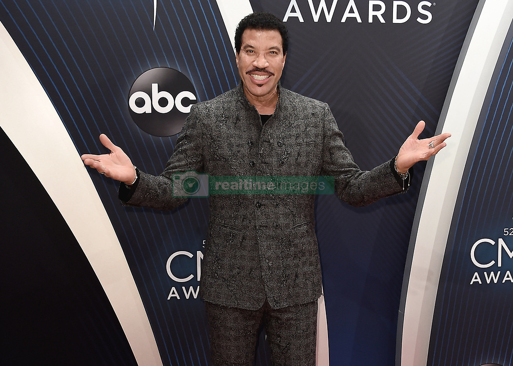 52nd Annual CMA Awards at the Bridgetone Arena on November 14, 2018 in Nashville, Tennessee. (Photo by Scott Kirkland/PictureGroup). 14 Nov 2018 Pictured: Lionel Richie. Photo credit: Scott Kirkland/PictureGroup / MEGA TheMegaAgency.com +1 888 505 6342