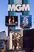 Exterior MGM Grand casino and resort in Las Vegas, NV.