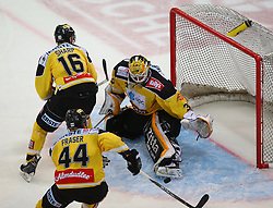 02.02.2016, Albert Schultz Eishalle, Wien, AUT, EBEL, UPC Vienna Capitals vs Dornbirner Eishockey Club, Platzierungsrunde, im Bild Jamie Fraser (UPC Vienna Capitals), MacGregor Sharp (UPC Vienna Capitals)u nd David Kickers (UPC Vienna Capitals) // during the Erste Bank Icehockey League placement round match between UPC Vienna Capitals and Dornbirner Eishockey Club at the Albert Schultz Ice Arena, Vienna, Austria on 2016/02/02. EXPA Pictures © 2016, PhotoCredit: EXPA/ Thomas Haumer