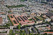 Nederland, Amsterdam, stadsdeel Zuid 25-05-2010. Overzicht Oud-Zuid, de Nieuwe Pijp, onder in beeld de Jozef Israelskade / Amstelkade. De wijk maakt deel uit van het Plan Zuid (architect Berlage)..Overview southern part of the city.  The district is part of the Plan South (Berlage architect)..luchtfoto (toeslag), aerial photo (additional fee required).foto/photo Siebe Swart