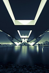 Modern Sheikh Zayed Bridge designed by Zaha Hadid in Abu Dhabi United Arab Emirates