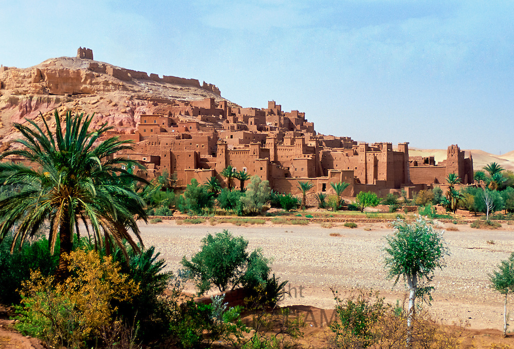 Kasbah Ait Ben Haddou, a UNESCO World Heritage Site in Morocco RESERVED USE - NOT FOR DOWNLOAD -  FOR USE CONTACT TIM GRAHAM