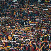Galatasaray's supporters during their UEFA Champions League Group Stage Group D soccer match Galatasaray between Borussia Dortmund at the Ali Sami Yen Spor Kompleksi in Istanbul, Turkey on Wednesday 22 October 2014. Photo by Aykut AKICI/TURKPIX