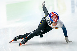 Dae Heon Hwang KOR in action on the 500 meter during ISU World Cup Finals Shorttrack 2020 on February 14, 2020 in Optisport Sportboulevard Dordrecht.
