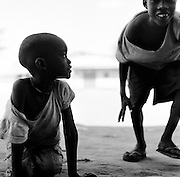 LOKICHOGGIO, KENYA - JANUARY 15, 2008: Portrait of two young boys.