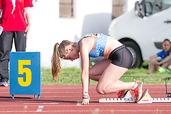 Lea Hribersek competes during day 1 of Slovenian Athletics Cup 2019, on June 15, 2019 in Celje, Slovenia. Photo by Peter Kastelic / Sportida