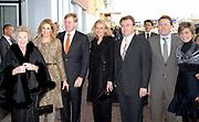 Uitreiking van de Prins Claus Prijs in muziekgebouw aan het IJ //  Presentation of the Prince Claus Award in the Amsterdam Music Hall.<br /> <br /> On the photo:<br /> <br />  Princess Maxima with Prince Willem Alexander , Princess Mabel with Prince Friso , Princess Laurentien with Prince Constantijn, Queen Beatrix