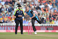 Luke Wood of Worcestershire Rapids bowling during the Vitality T20 Finals Day Semi Final 2018 match between Worcestershire Rapids and Lancashire Lightning at Edgbaston, Birmingham, United Kingdom on 15 September 2018.