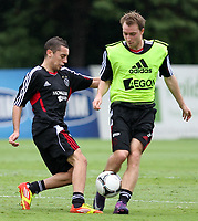 20120110: SAO PAULO, BRAZIL - Player Ismaïl Aissati and  Christian Eriksen from Ajax team during training session at Football Academy in Barra Funda, SP, before match against Palmeiras<br /> PHOTO: CITYFILES